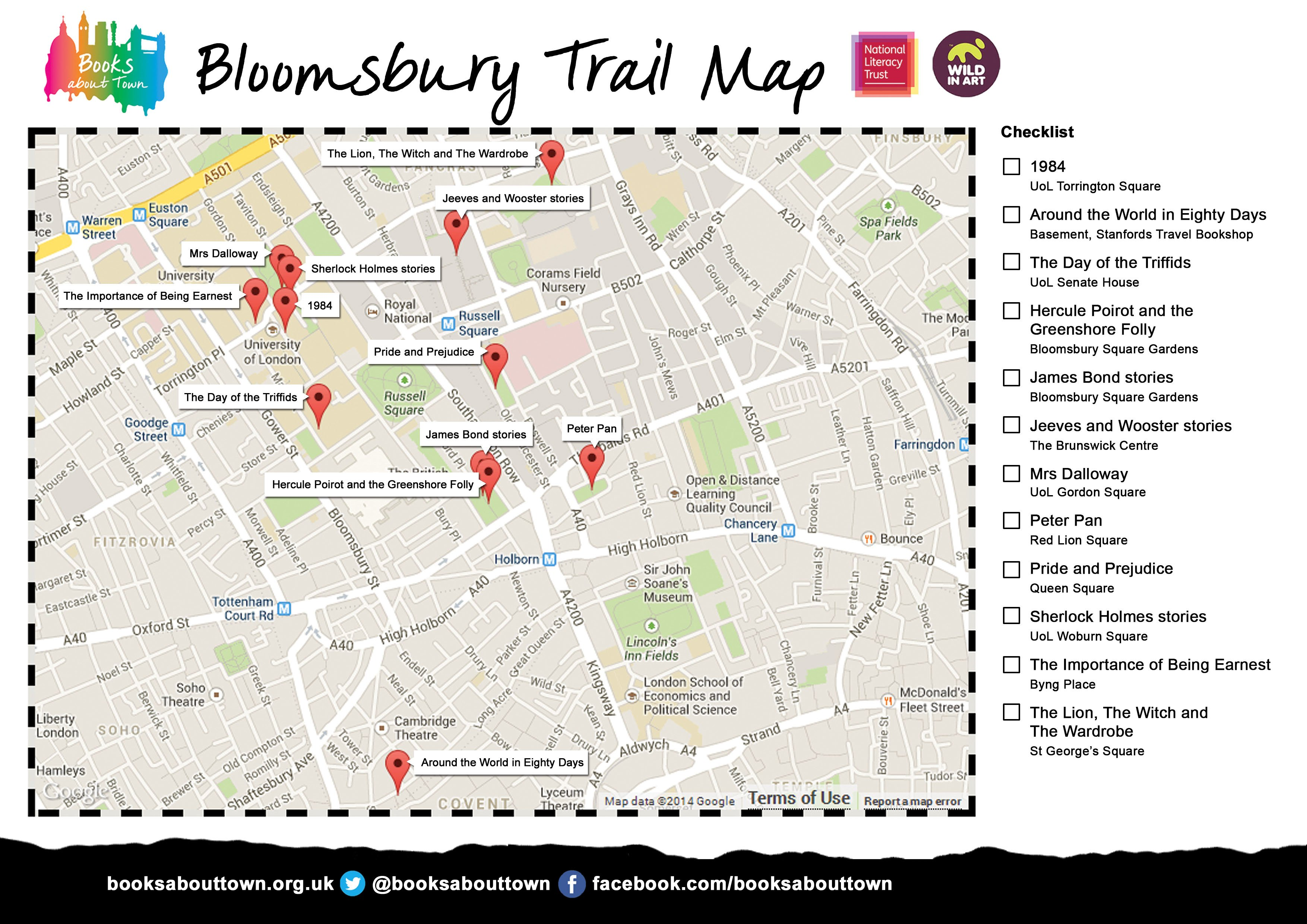 Trails books about town national literary trust bloomsbury trail gumiabroncs Gallery